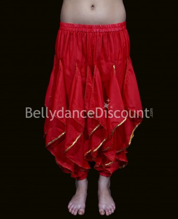 Oriental and Bollywood dance sarouel for girls red