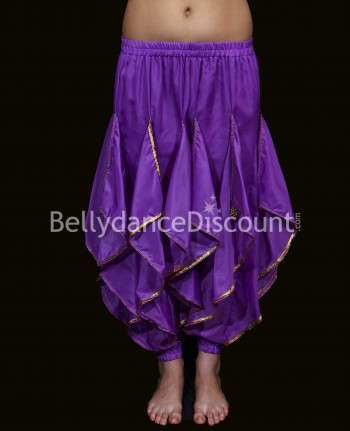 Oriental and Bollywood dance sarouel for girls purple