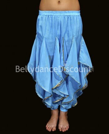 Oriental and Bollywood dance sarouel for girls light blue