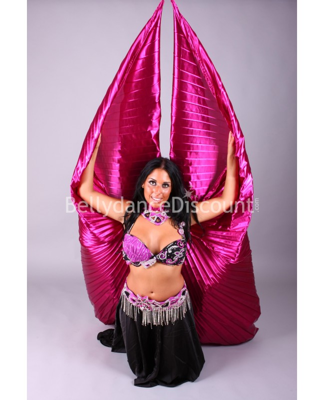 Fuchsia opaque belly dance Isis wings