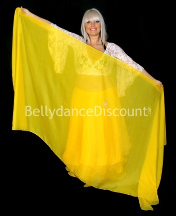Yellow rectangular oriental dance veil