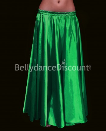 Green belly dance satin skirt