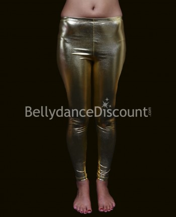 Metallic golden Bellydance leggings