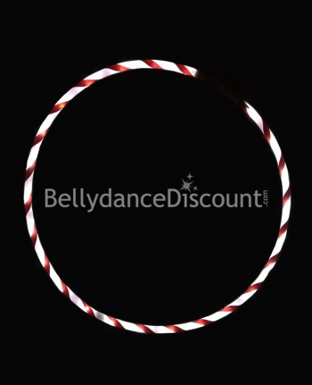 Lighted belly dance hoop white