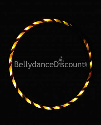 Lighted belly dance hoop gold