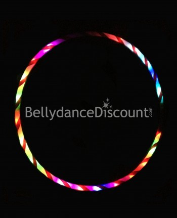 Lighted belly dance hoop multicolor