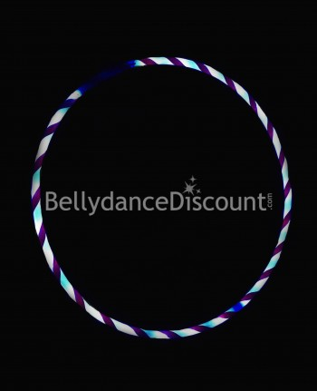 Lighted belly dance hoop light blue