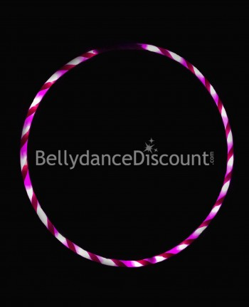 Lighted belly dance hoop fuchsia