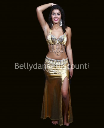 Gold Bellydance pencil skirt