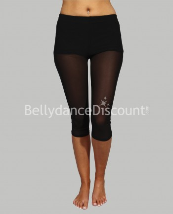 Black short transparent legging