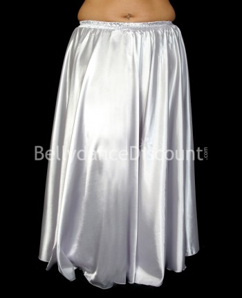 Silver belly dance satin skirt