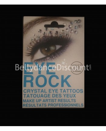 Eyes tattoo with strass N°1