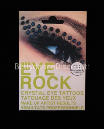 Eyes tattoo with strass N°3
