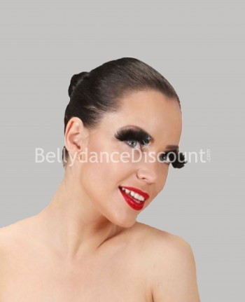 Pair of false feather eyelashes black