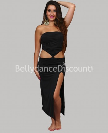 Asymmetrical Bellydance dress black