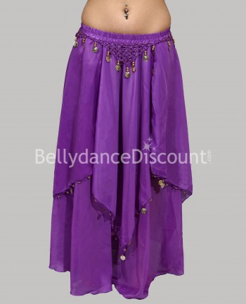 Purple belly dance skirt with lining