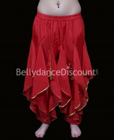 Red Bellydance and Bollywood sarouel pants
