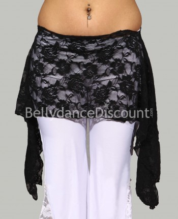 Black Bellydance belt in lace
