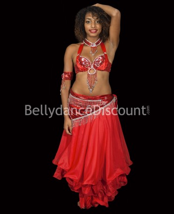 Metallic red Bellydance belt