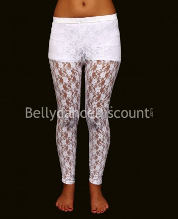 Dance leggings white in lace