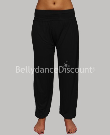 Black cotton Harem pants for dance classes