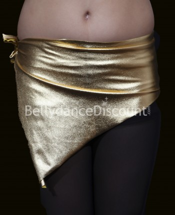 Girl's metallic bellydance belt gold