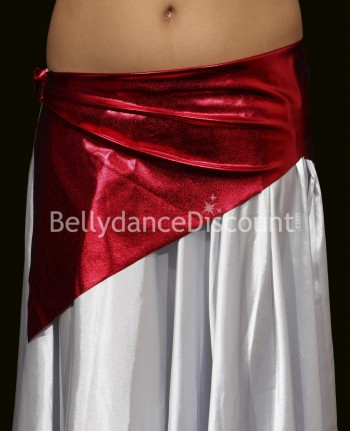 Girl's metallic bellydance belt red