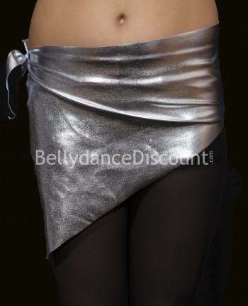 Girl's metallic bellydance belt silver