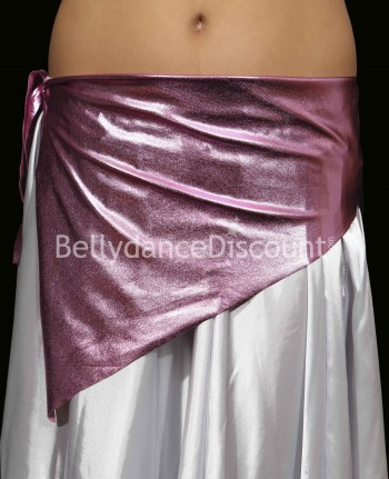 Girl's metallic bellydance belt light pink