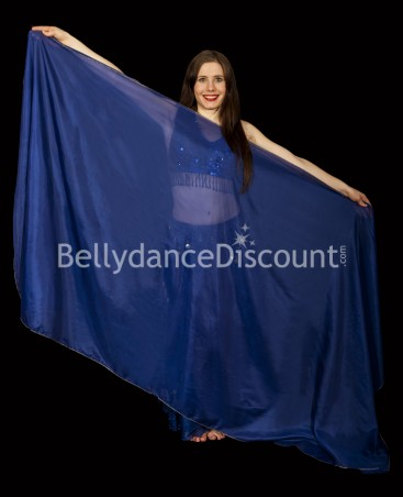 Dark blue rectangular oriental dance veil