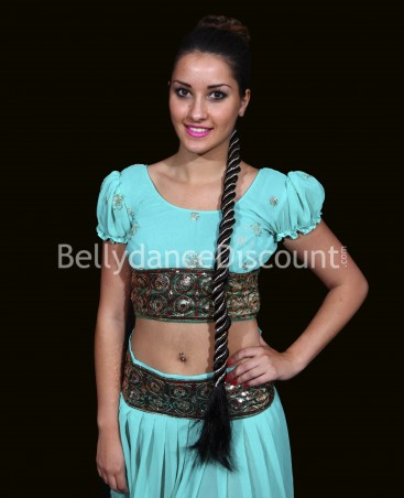 Long Indian braid with strass
