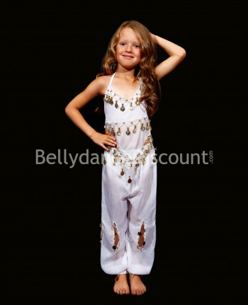 White belly dance children's costume