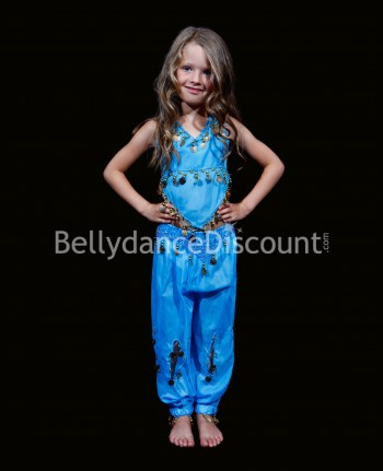 Light blue belly dance children's costume