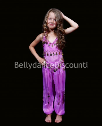 Mauve belly dance children's costume
