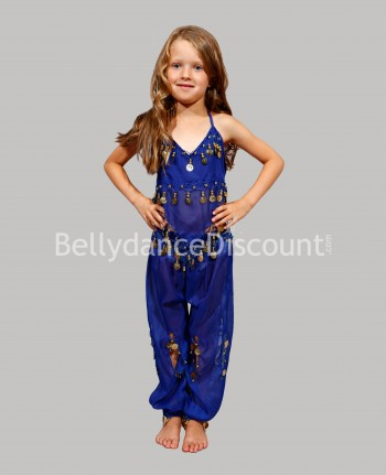 Dark blue belly dance children's costume
