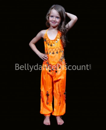 Orange belly dance children's costume