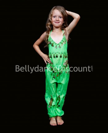 Light green belly dance children's costume