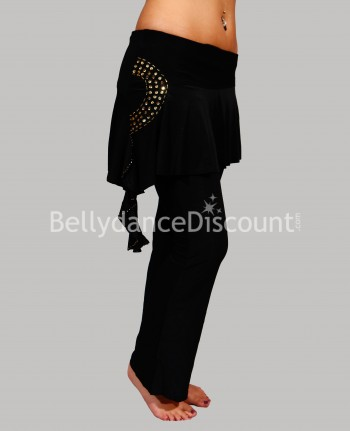 Black pants with gold strass for dance classes