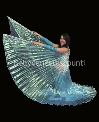Light blue transparent belly dance Isis wings