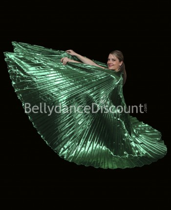 Green opaque belly dance Isis wings