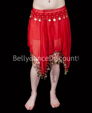 Red belly dance short skirt