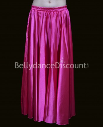Fuchsia belly dance satin skirt