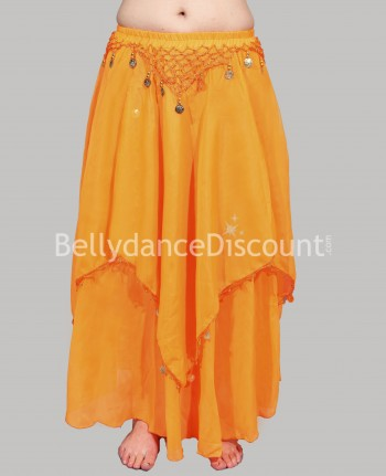 Jupe de danse orientale orange