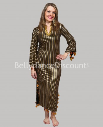 Black oriental dancing Baladi/Saïdi dress