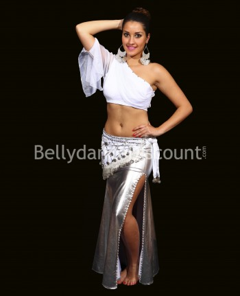 Silver Bellydance pencil skirt