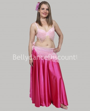 Fuchsia belly dance satin...