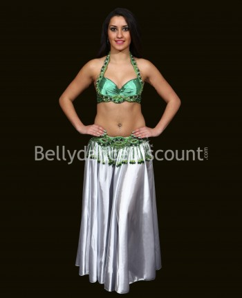 Green belly dance bra +...