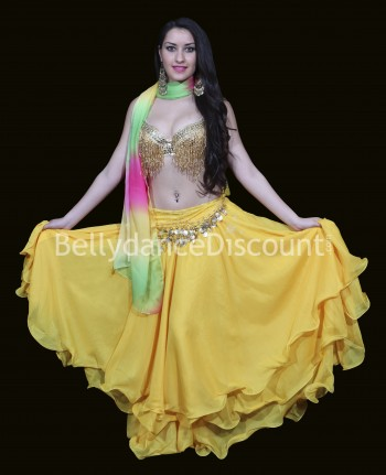 Golden beaded Bellydance bra
