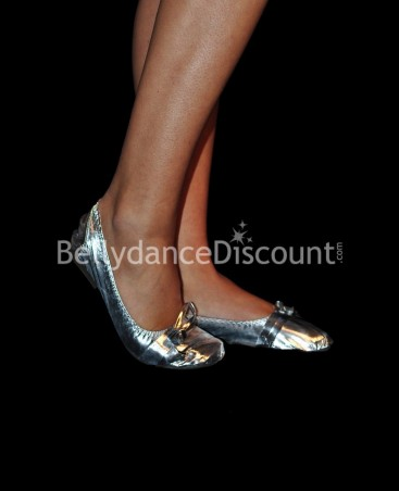 Silver   Oriental dance ballet shoes