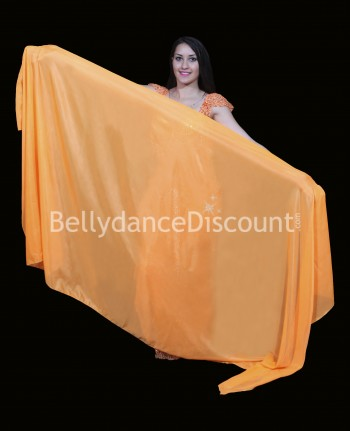Voile rectangulaire de danse orientale orange